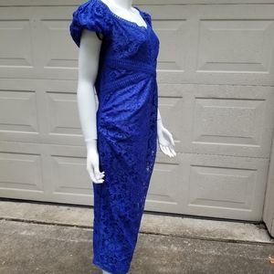 Little Mistress sz 12 Indigo maternity dress blue